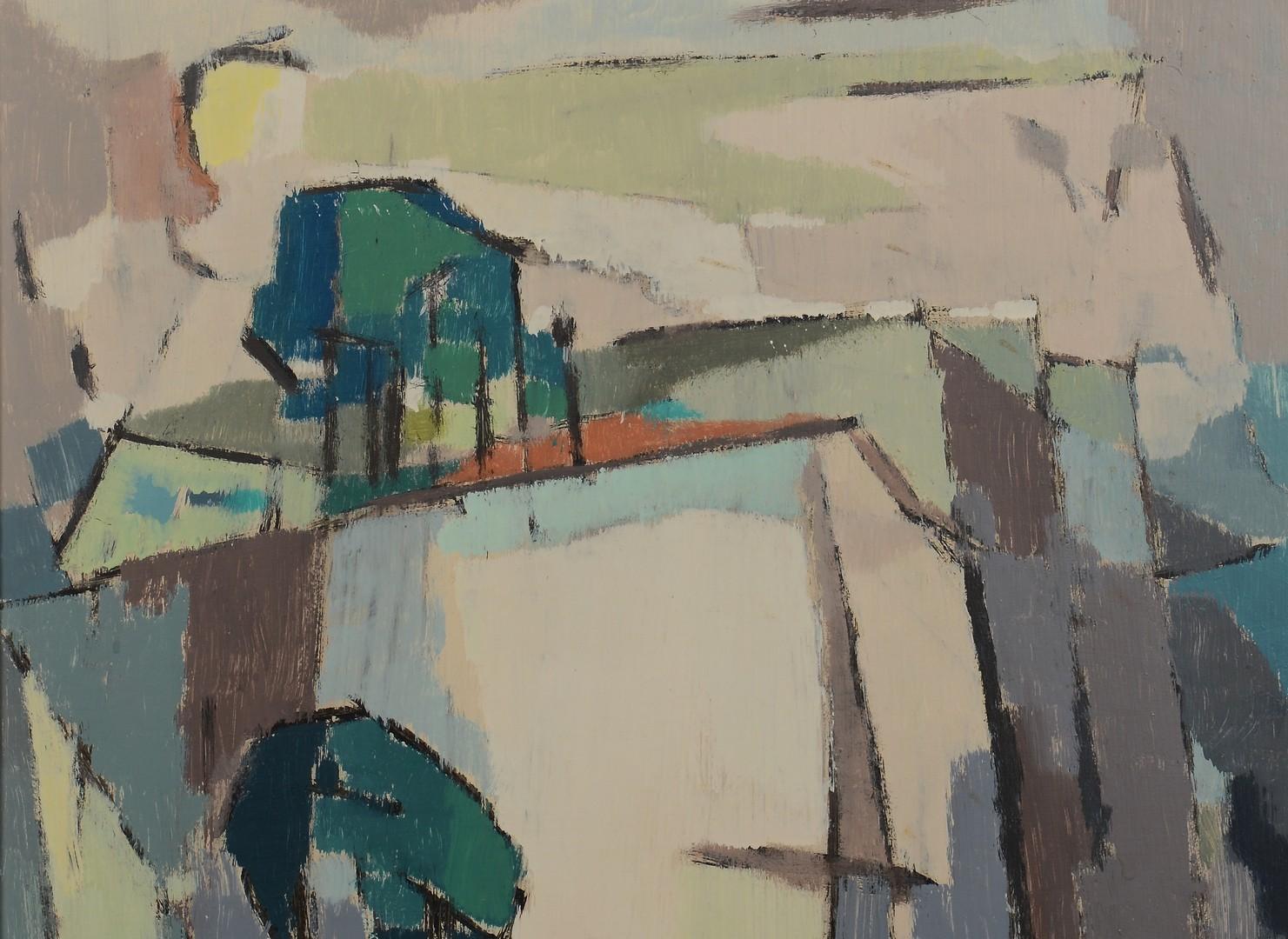 Lot 138: George Cress (TN) cubist oil