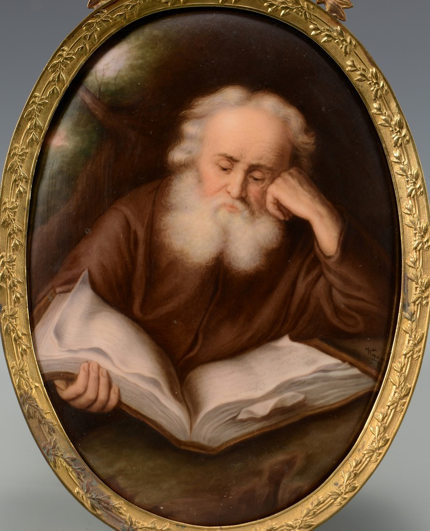 Lot 141: KPM Porcelain Plaque, St. John