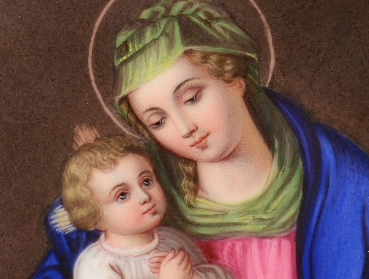Lot 142: Religious Painted Framed Plaque