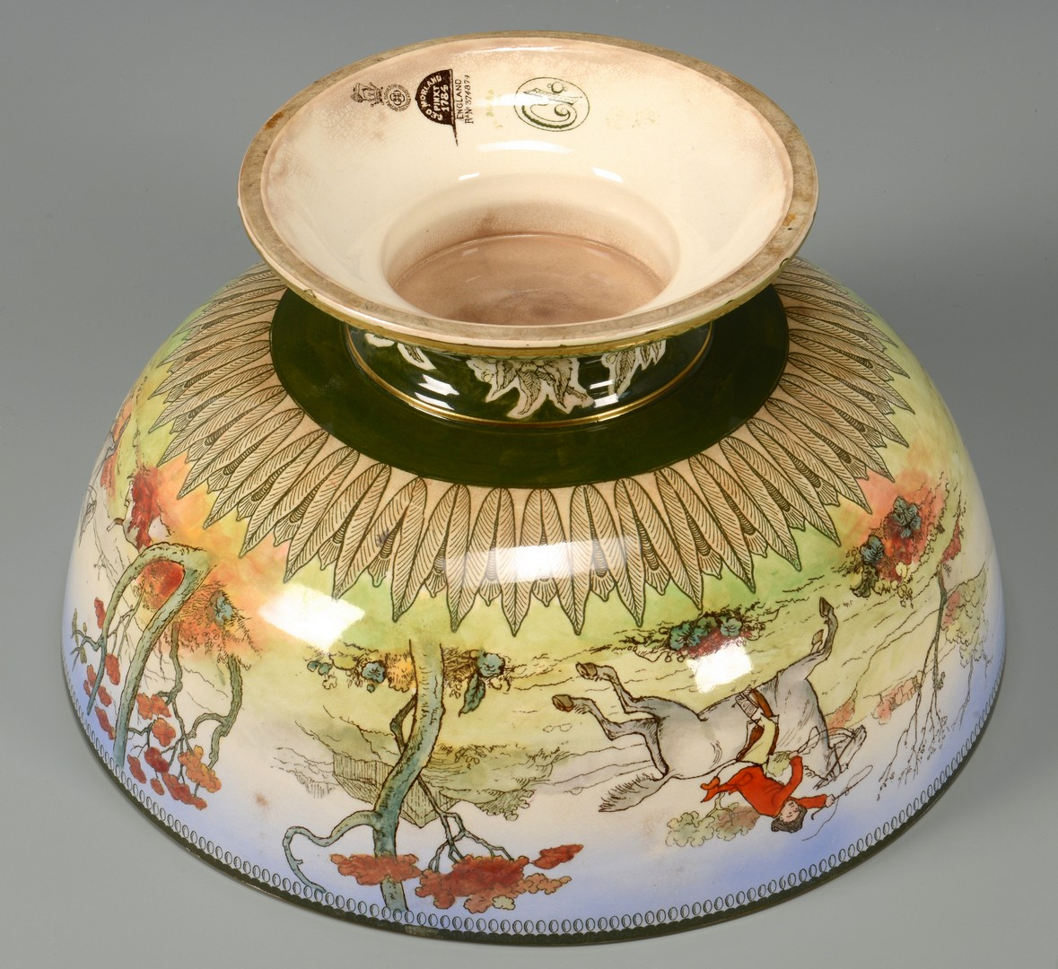 Lot 145: Doulton Burslem Punch Bowl, Hunt Scene