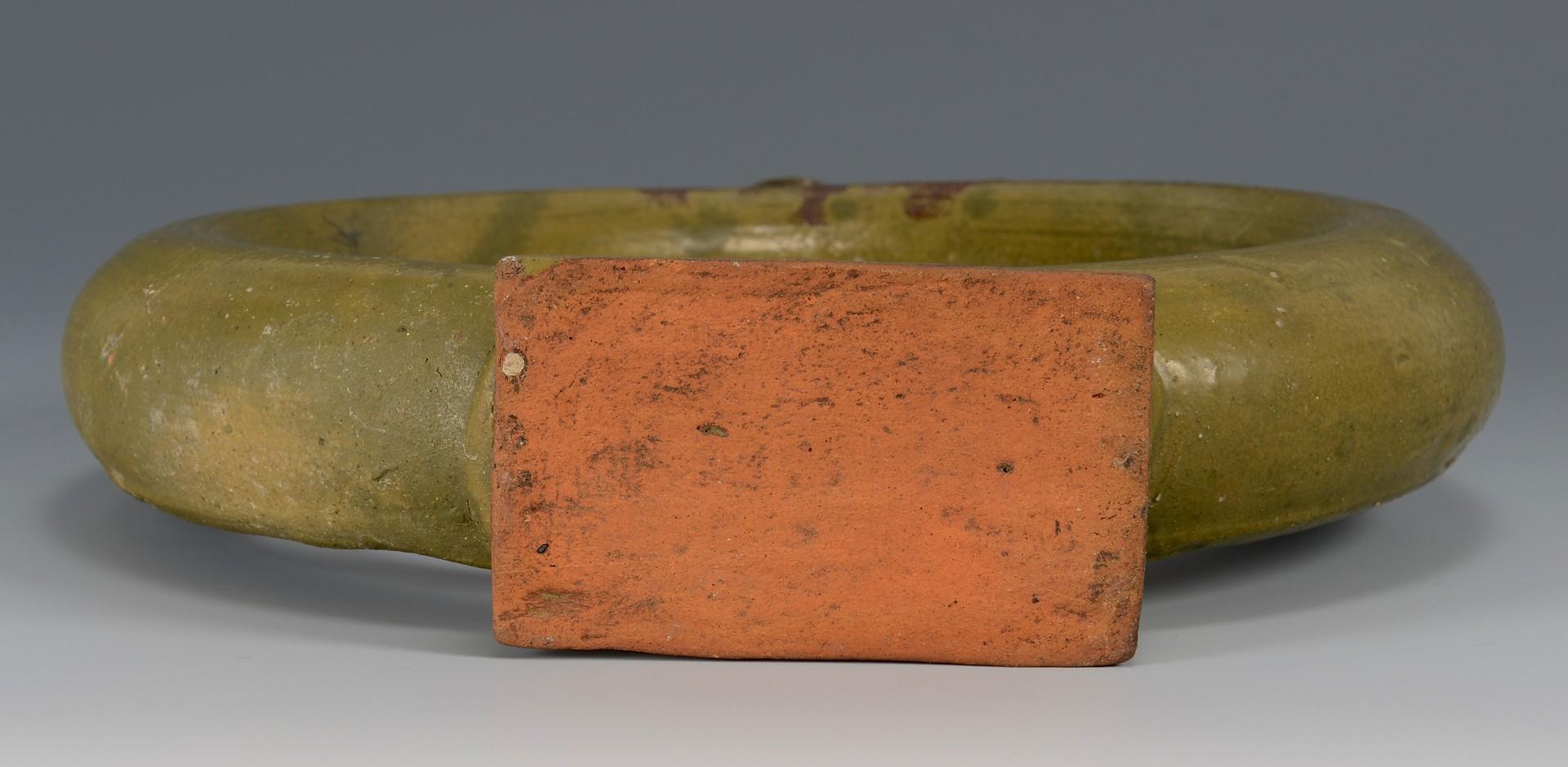 Lot 148: Alabama Stoneware Ring Bottle with Footed Base