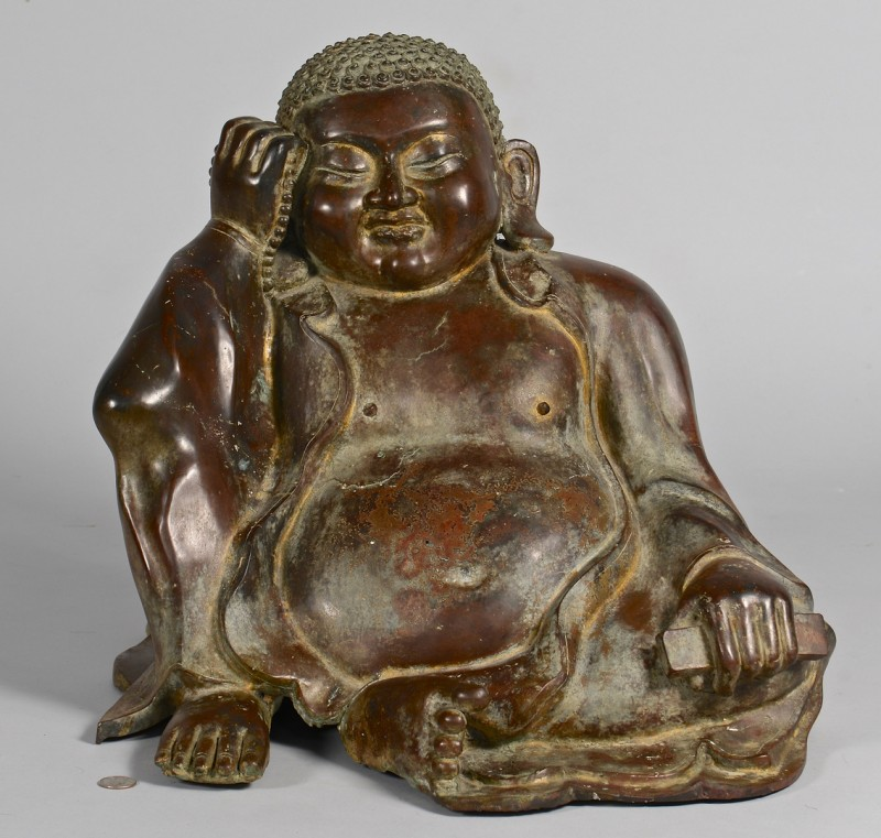 Lot 14: Large Asian Bronze Buddha Figure