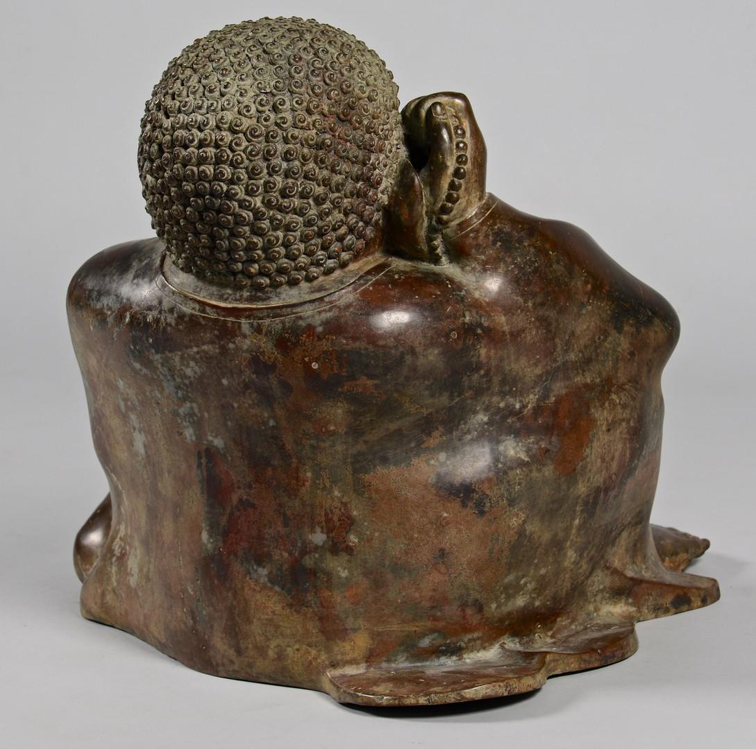 Lot 14: Large Asian Bronze Buddha Figure