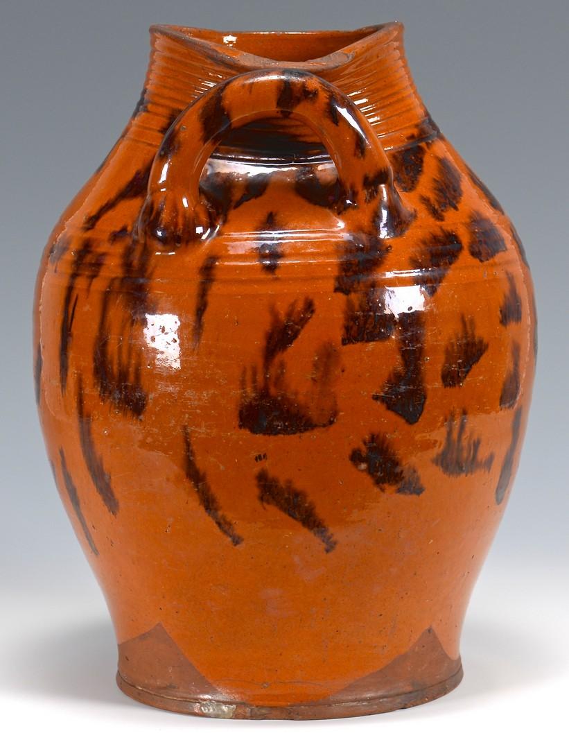 Lot 151: East TN Redware Jar w/ Manganese Decoration