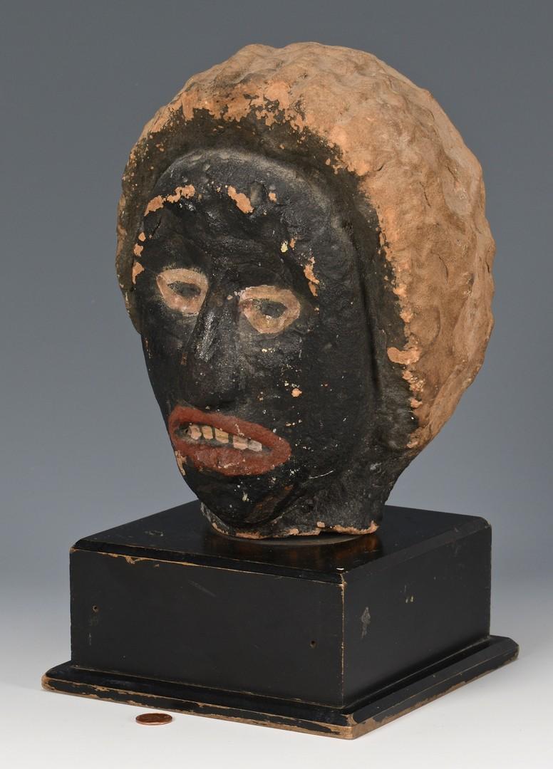 Lot 153: Southern Carved Stone Folk Art Female Bust