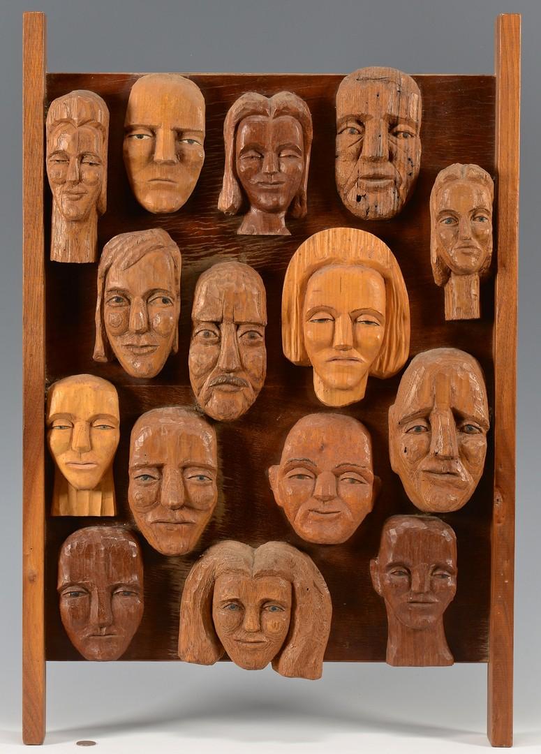 Lot 160: Helen Bullard Folk Sculpture Collage