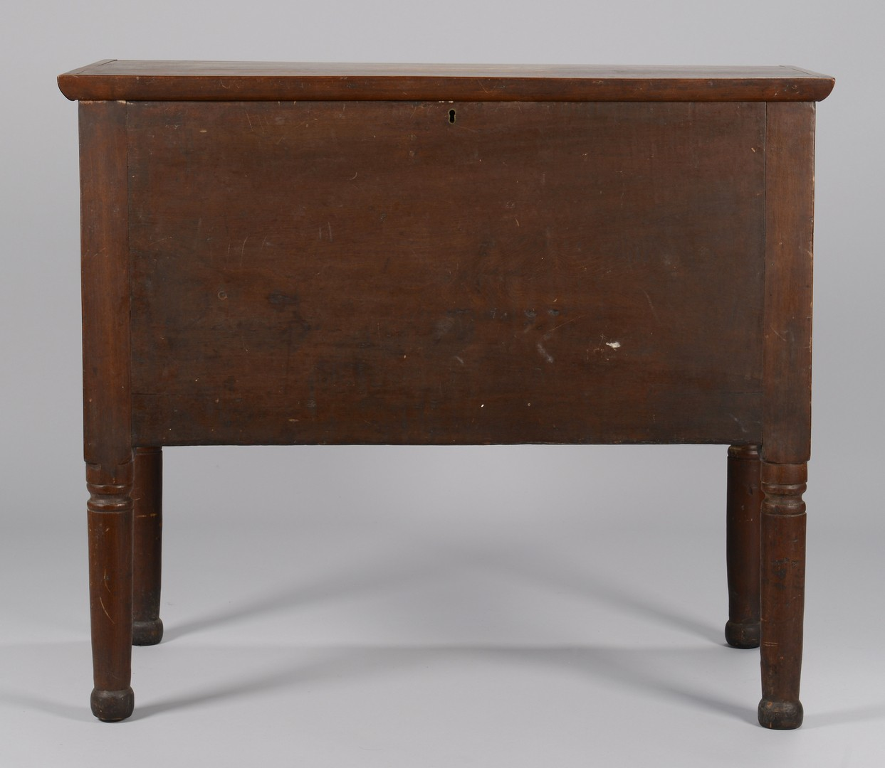 Lot 161: Southern Blanket Chest on Tall Turned Legs