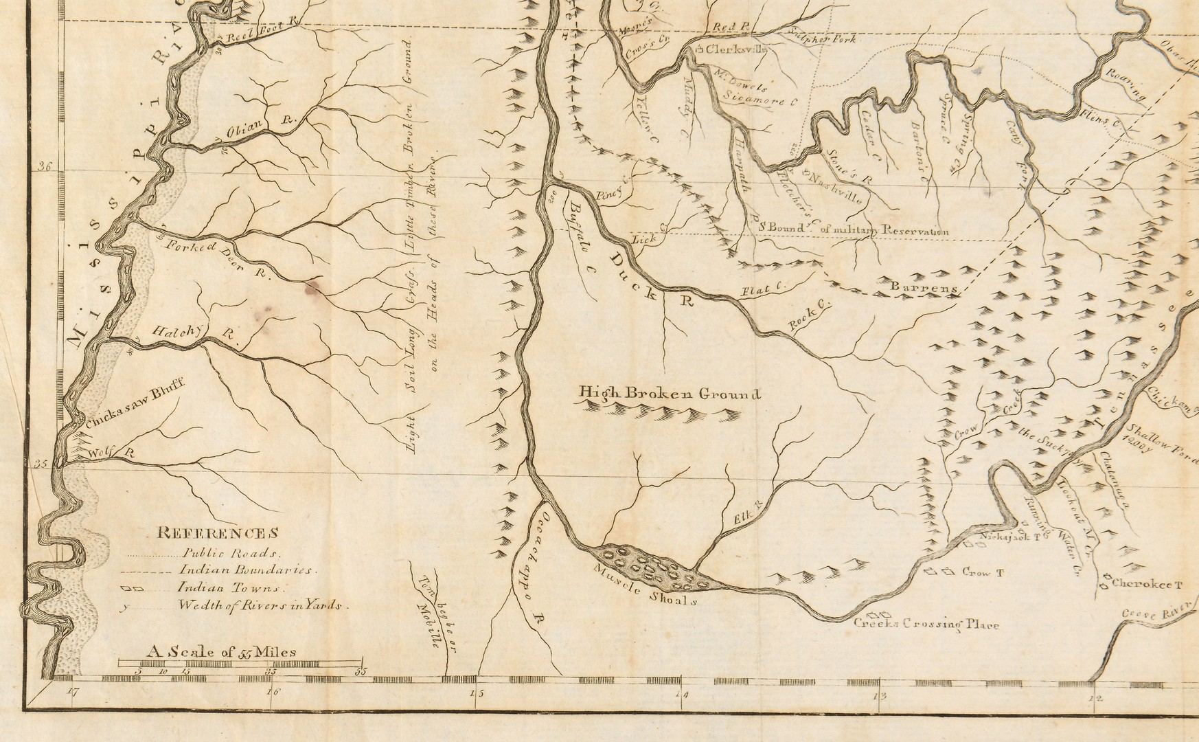 Lot 170: 1799 Tennessee Map