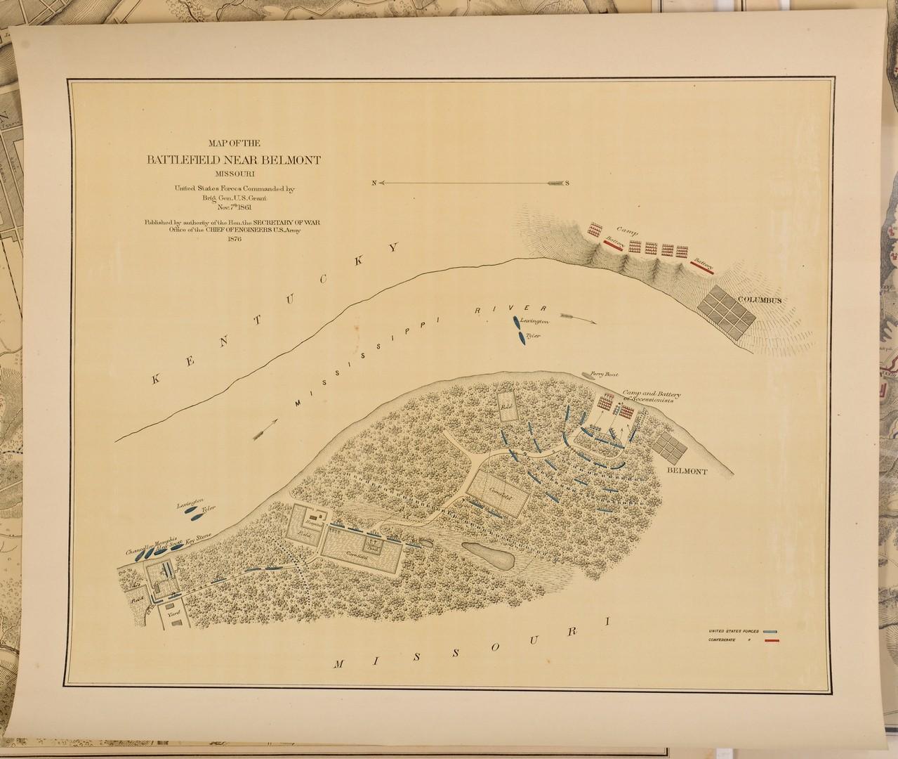 Lot 174: 5 Civil War Maps