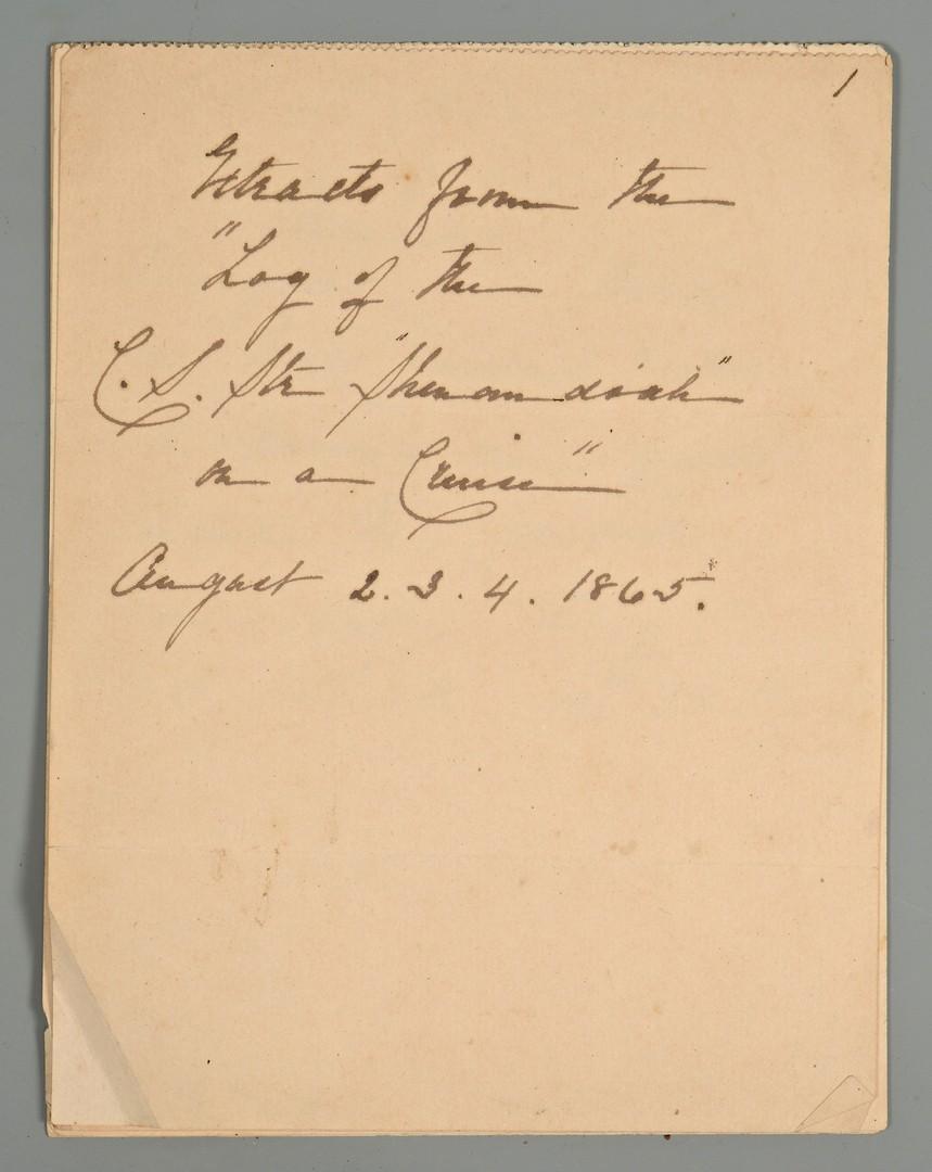 Lot 175: Confederate Naval CDV Album Archive – CSS Shenandoah, Florida, Alabama