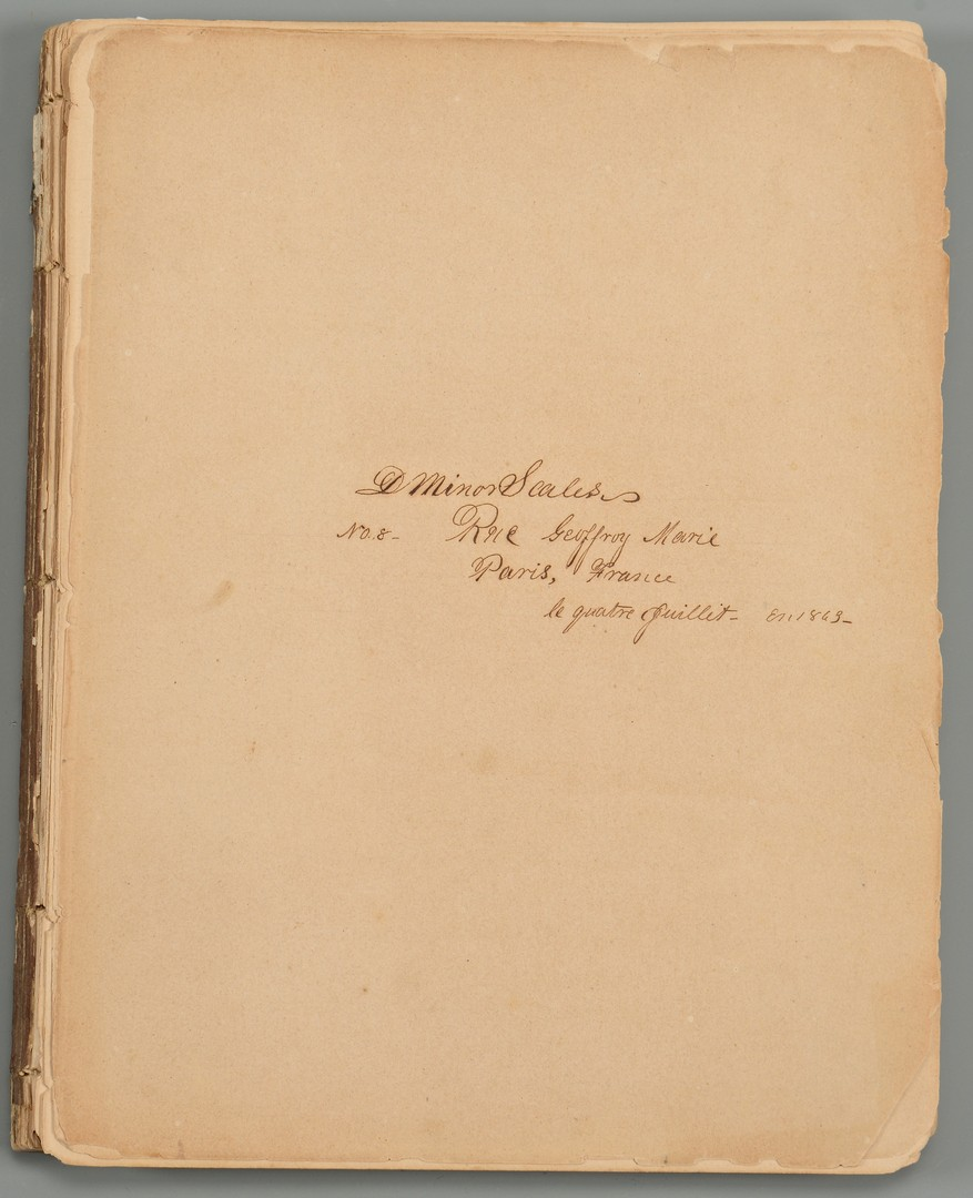 Lot 177: Confederate Navy Archive of Lt. Dabney Scales in Europe & Other