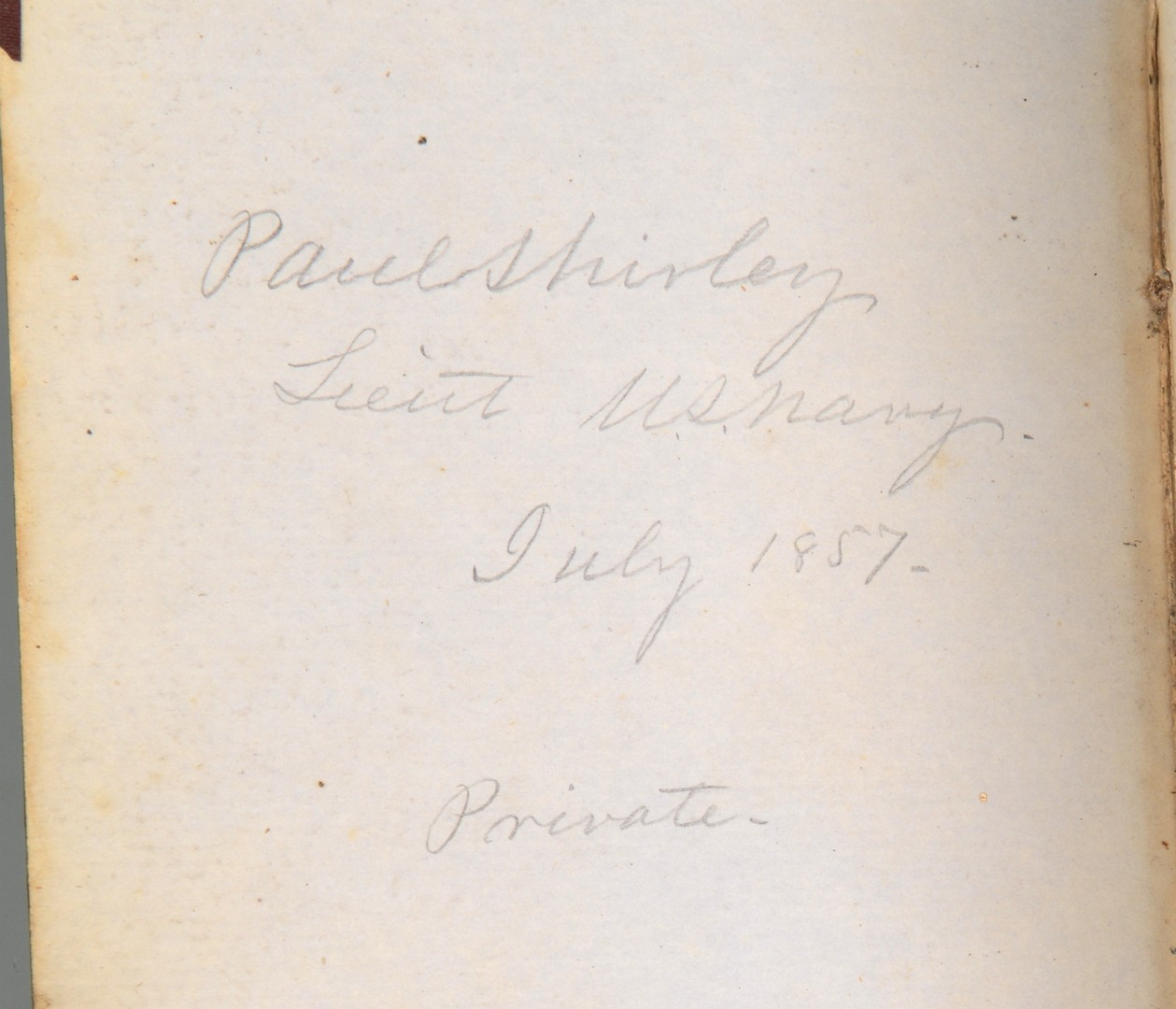 Lot 179: Diary of Lt Paul Shirley, USN, USS Susquehanna