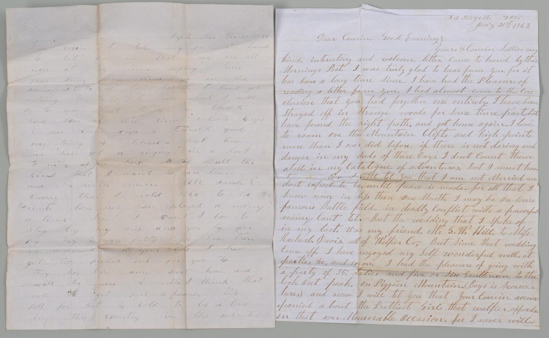 Lot 182: GA 9th CSA Civil War Archive – E. S. Cassady