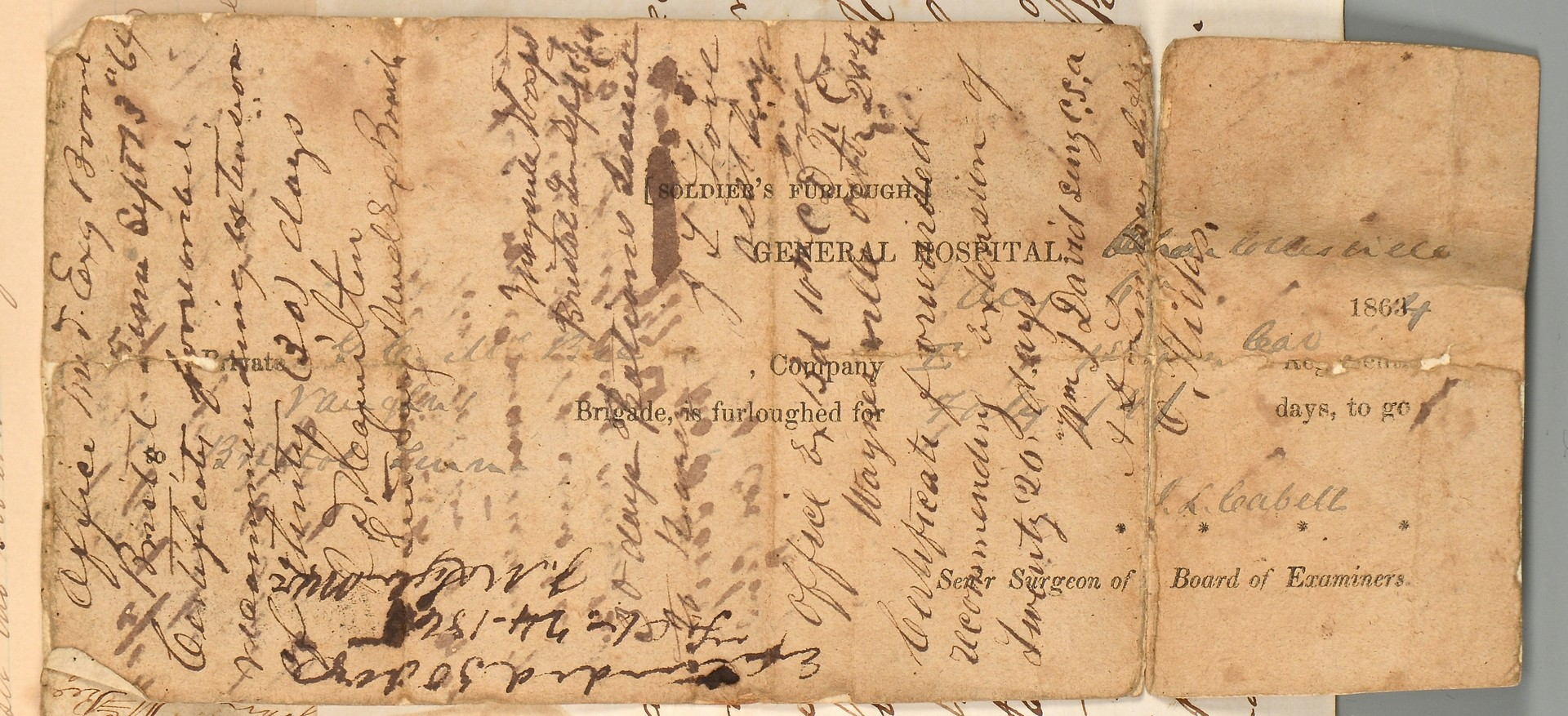 Lot 183: East TN Civil War archive, Sawyers family
