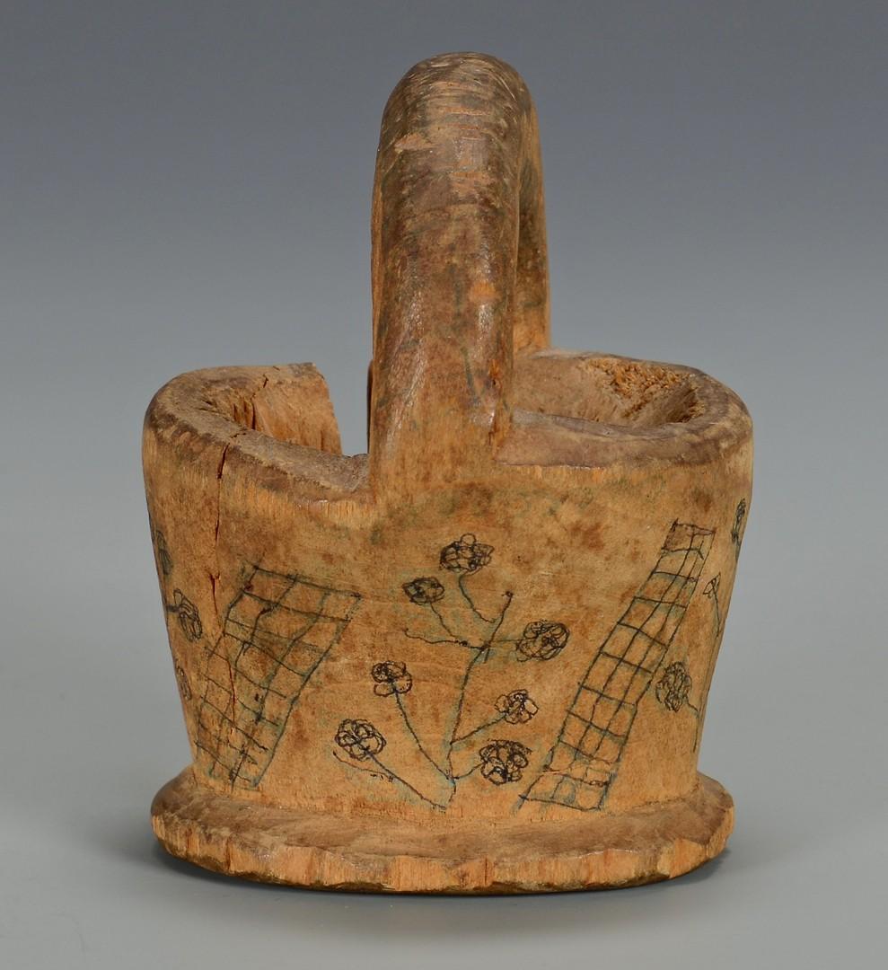 Lot 184: Civil War Carved Treenware Basket, TN