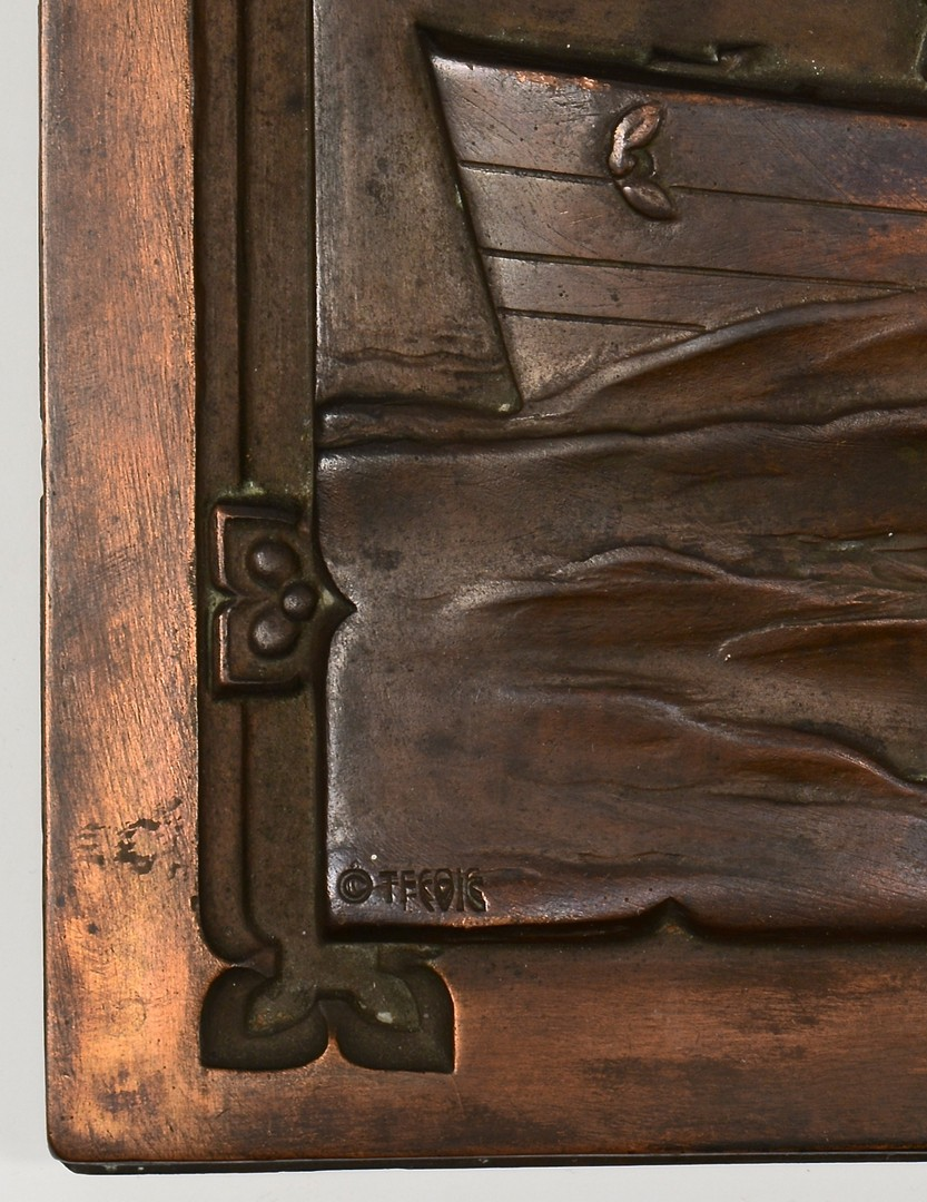 Lot 189: 3 Bronze Plaques, WWII Scenes inc. D-Day