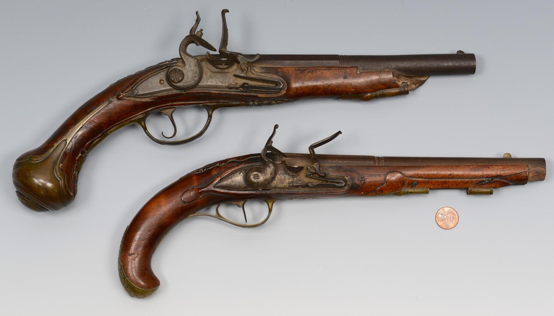 Lot 192: 2 Flintlock pistols, one Geromino Fernandez