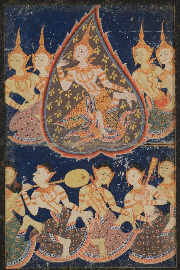 Lot 19: 3 Framed Tibetan Thangkas