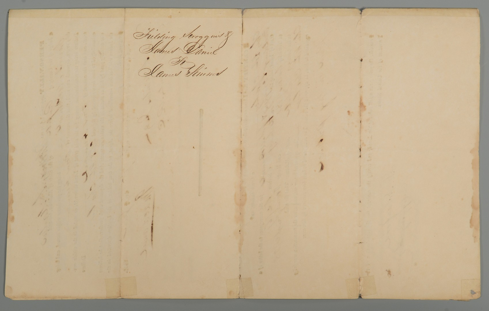 Lot 202: Andrew Jackson signed Creek Indian Document, Alabama