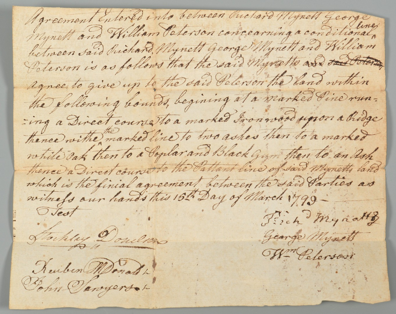 Lot 208: Early Knox Co. document archive relating to Stockley Donelson, 18th cent.
