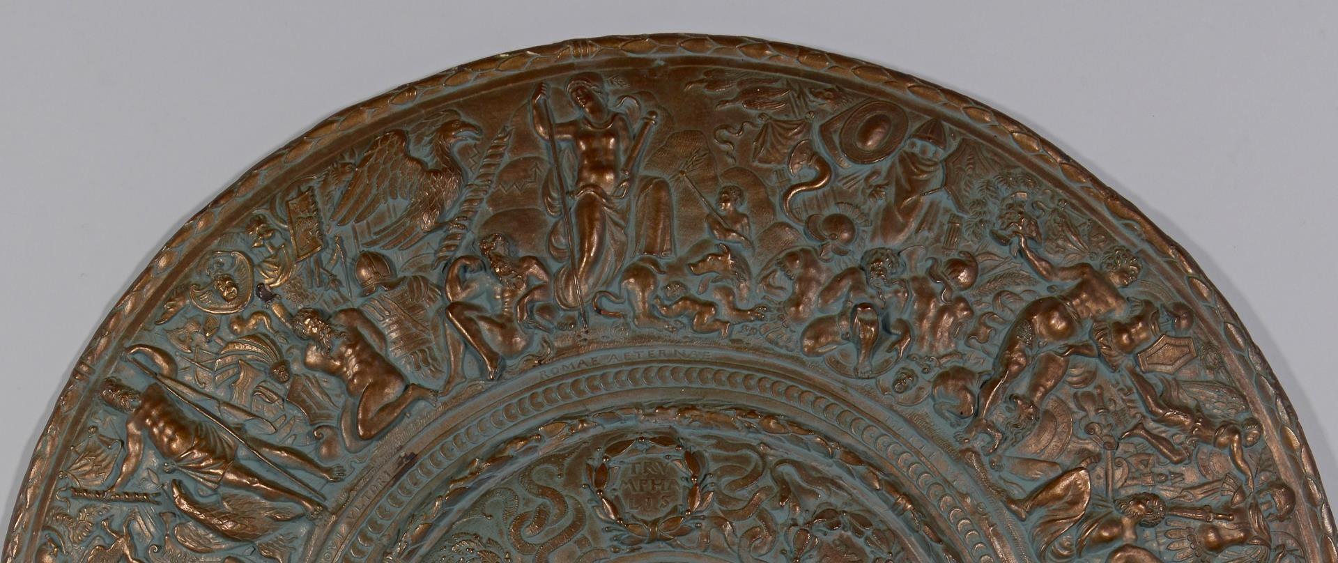 Lot 209: Bronzed Plaster Shield, Sigman