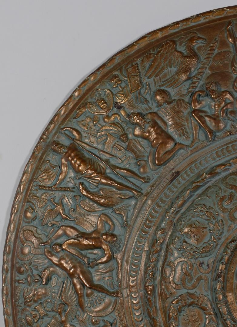 Lot 209: Bronzed Plaster Shield, Sigman