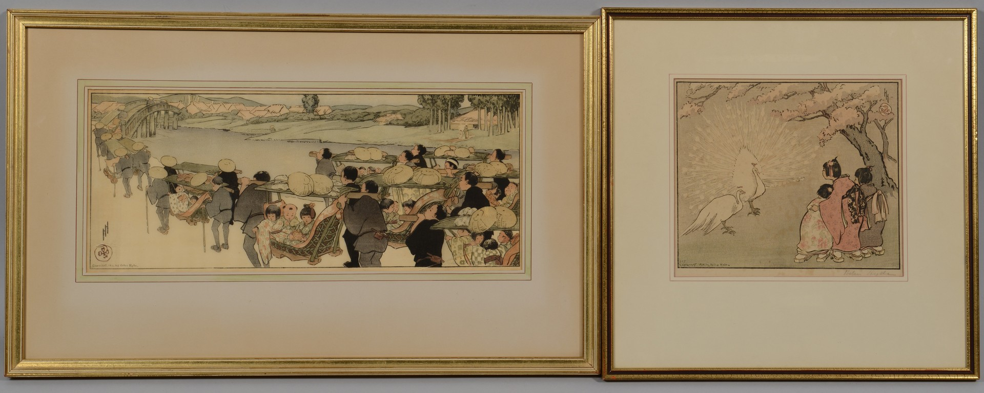 Lot 20: Two Helen Hyde Woodblocks