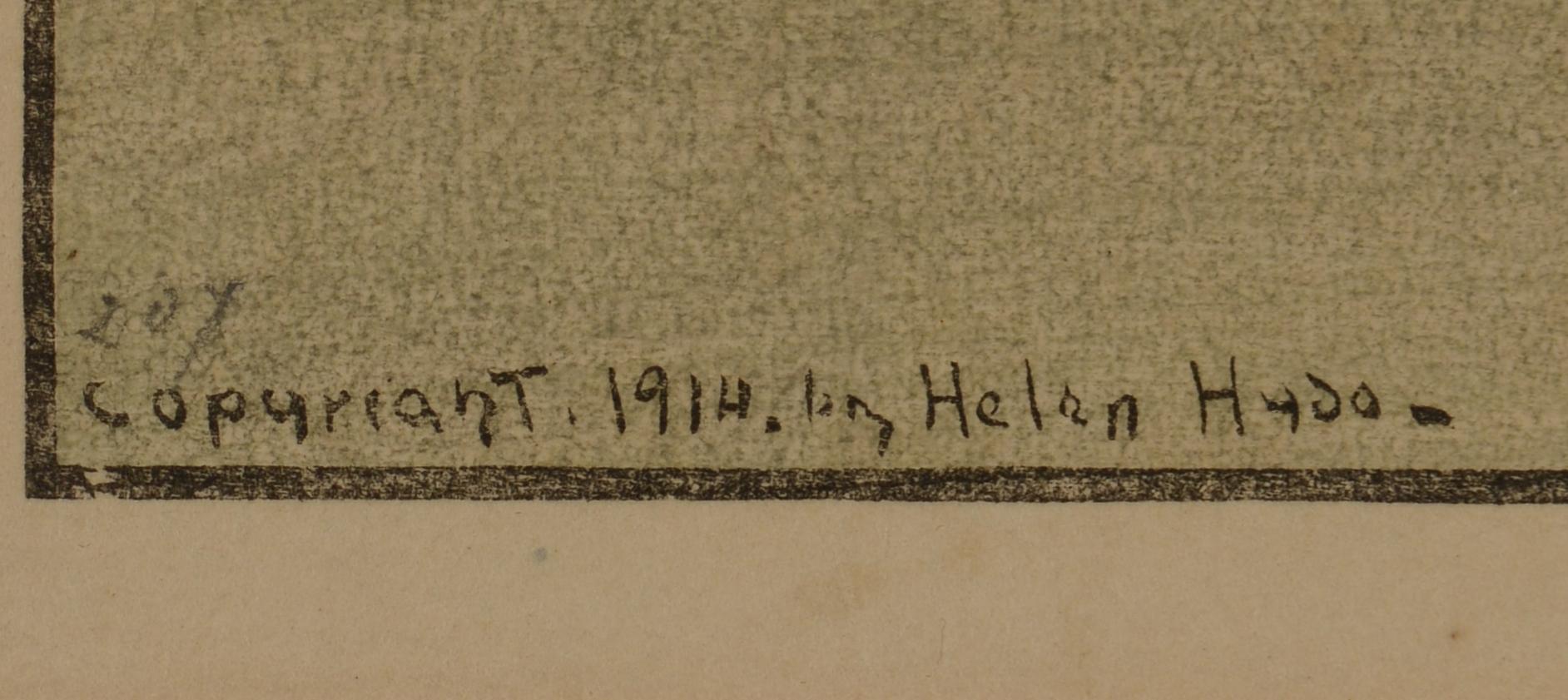 Lot 20: Two Helen Hyde Woodblocks