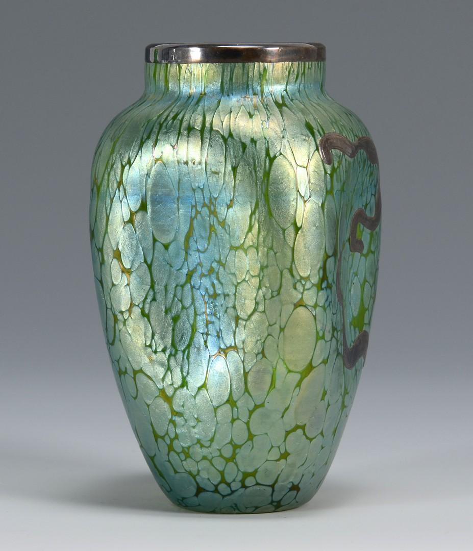 Lot 211: 2 Art Glass Vases, attrib. Loetz