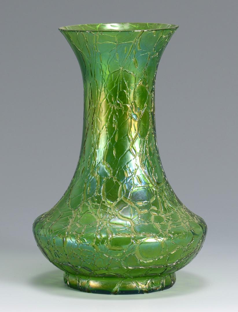 Auctions In Alabama >> Lot 211: 2 Art Glass Vases, attrib. Loetz