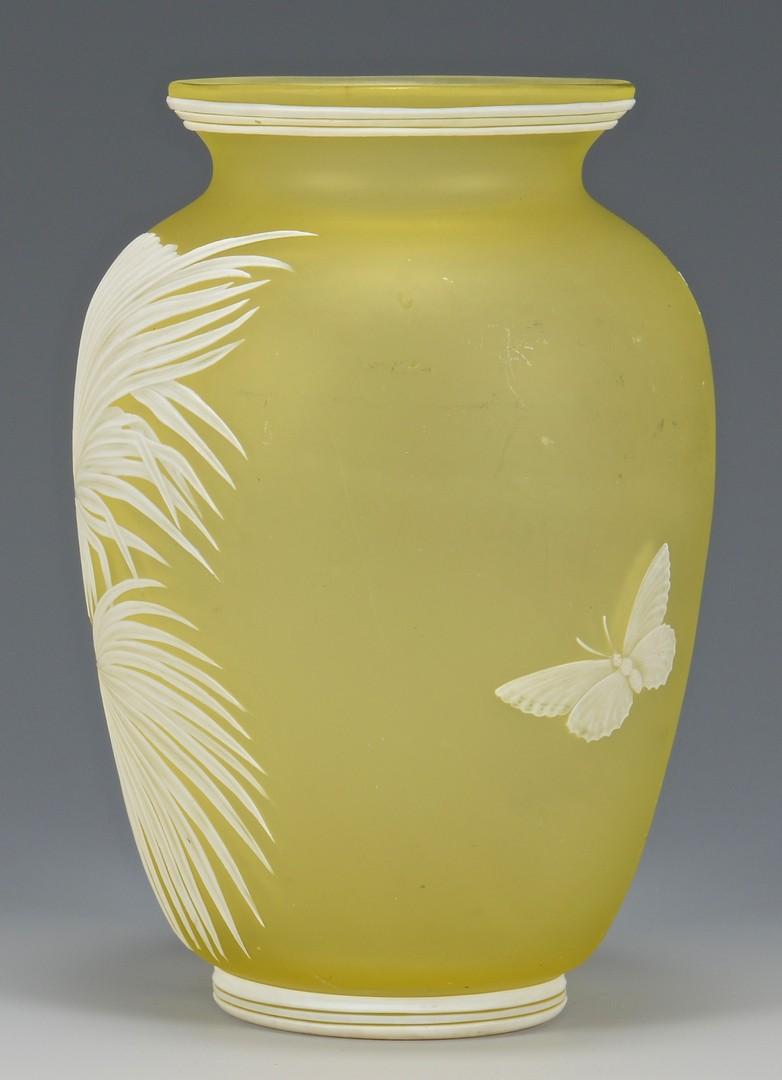 Lot 212: Thomas Webb Cameo Art Glass Vase