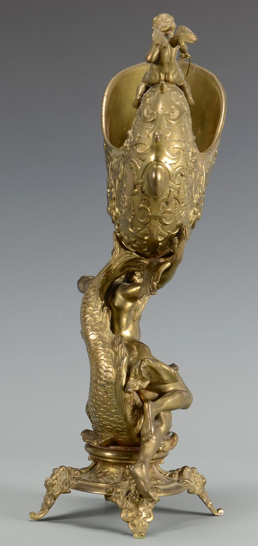 Lot 216: Rococo Bronze Poseiden grouping