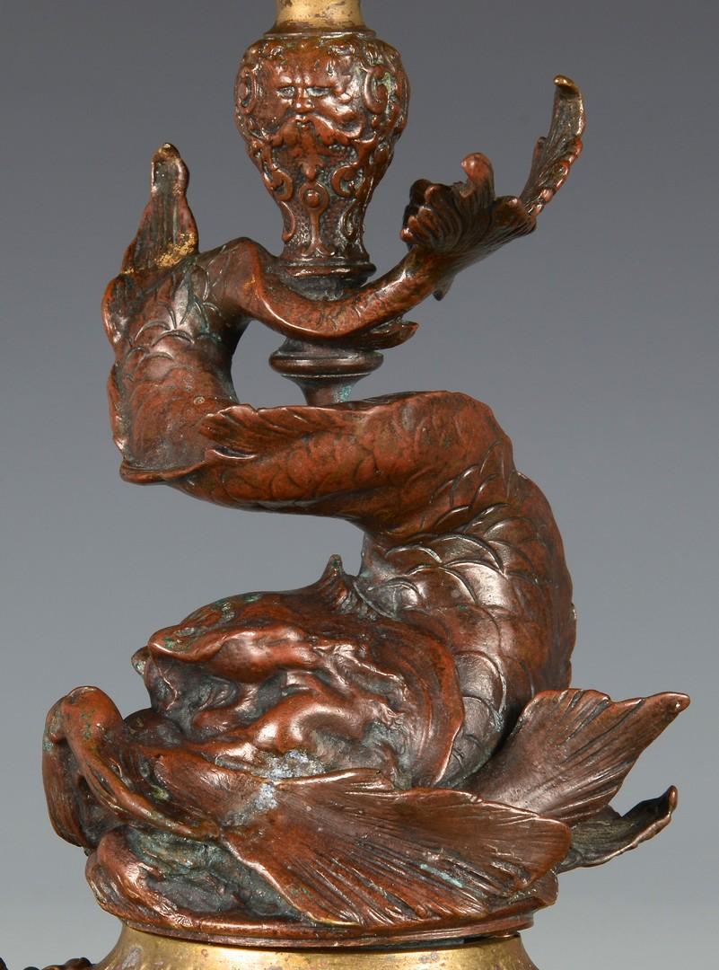 Lot 217: Bronze/Copper Tazza, Dolphin Base