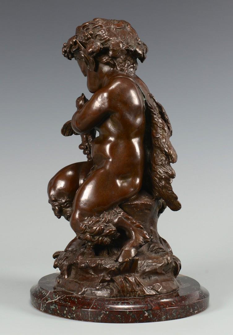 Lot 219: Bronze Child Satyr Sculpture