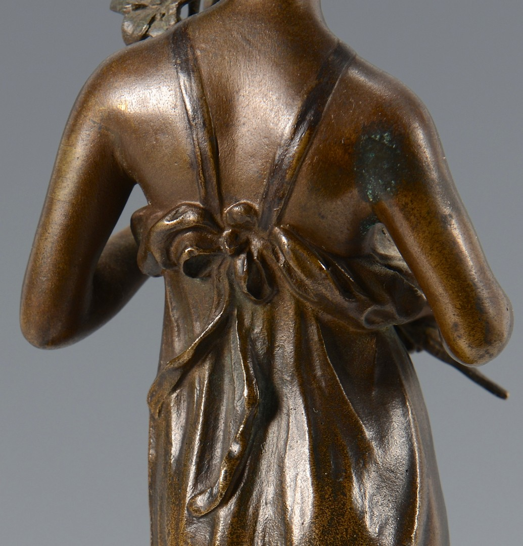 Lot 221: Lindenberg Bronze of Girl w/ Flowers
