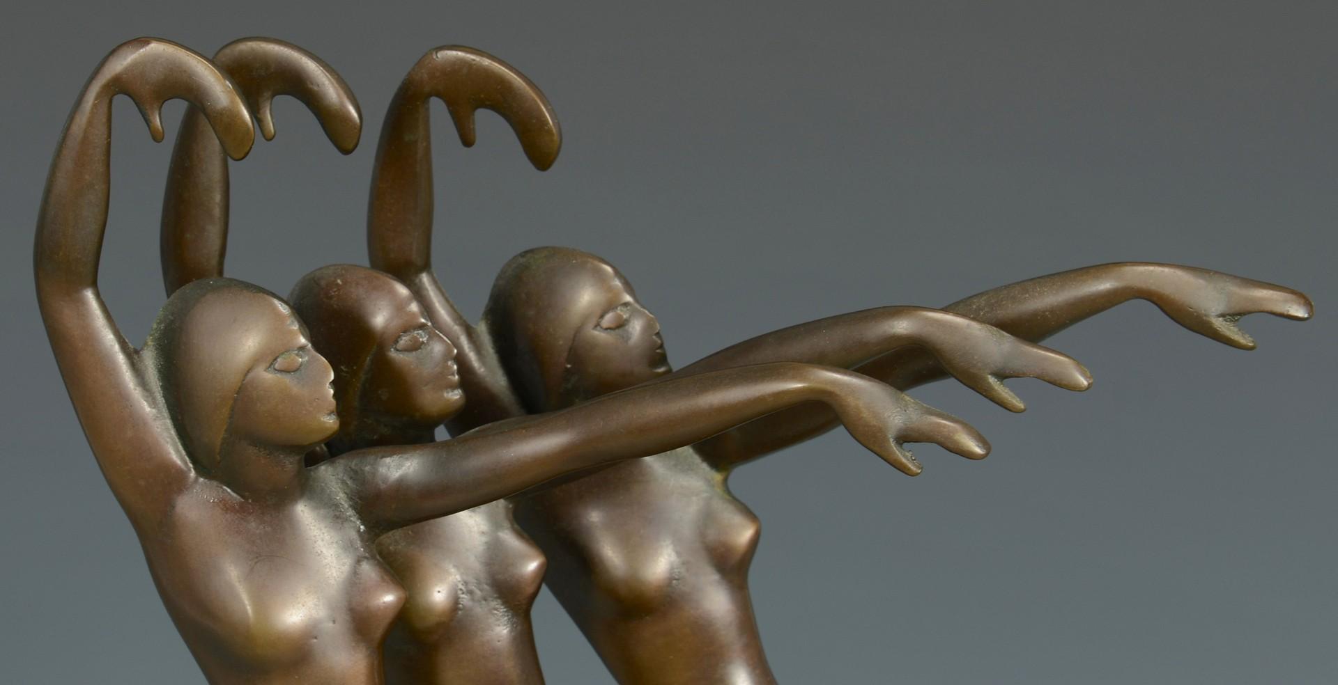 Lot 222: French Art Deco Bronze,  Henri Lautier
