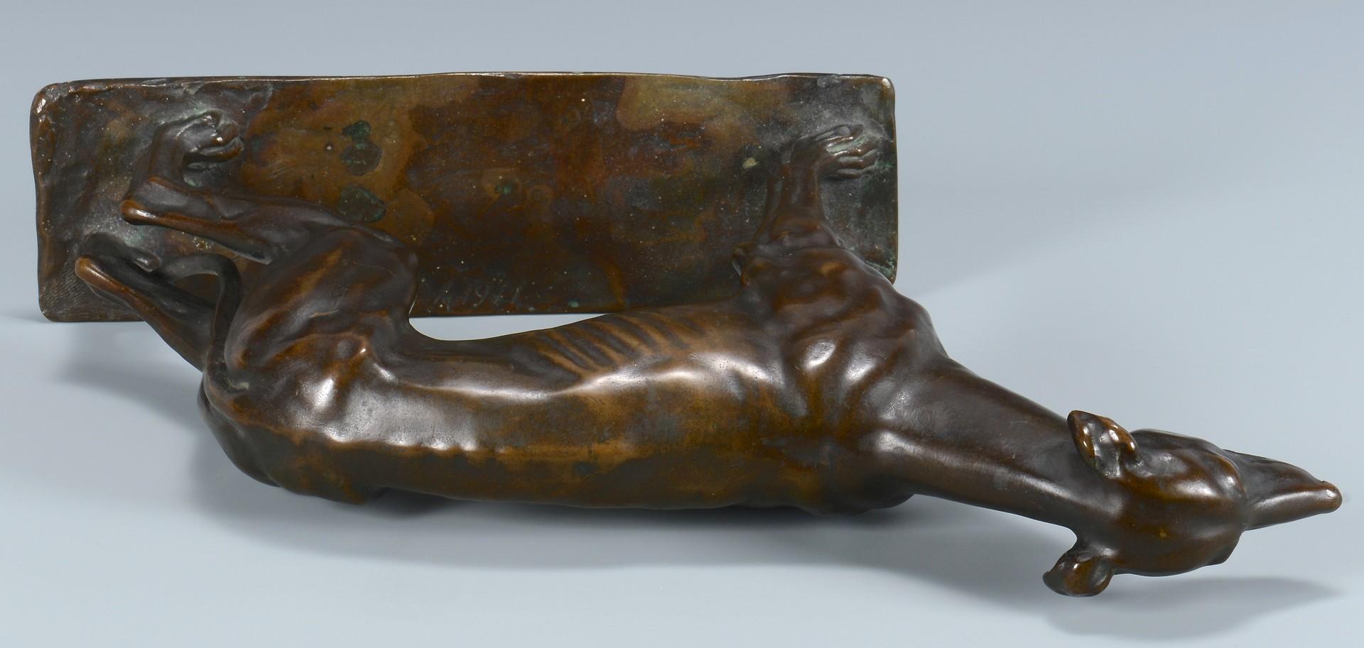 Lot 223: Bronze of Greyhound Dog, Austrian