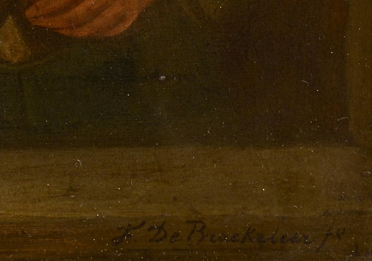 Lot 226: F. De Braekeleer o/c, genre scene, man with tankard