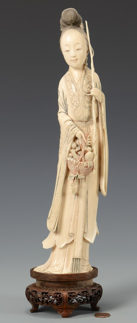 Lot 22: Large Chinese Carved Ivory Quan Yin Figure
