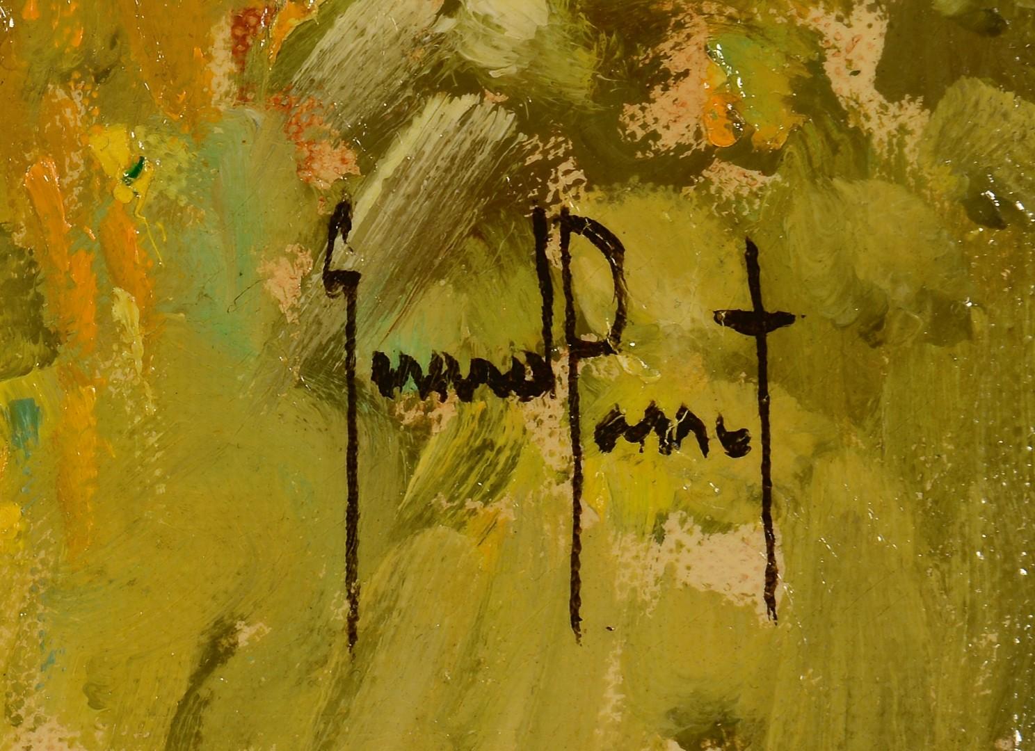 Lot 230: Gerard Passet o/c, French Landscape