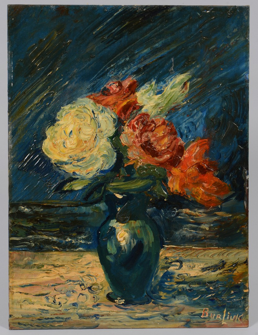 Lot 233: David Burliuk o/b, Floral Still Life