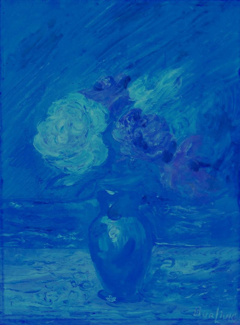 Lot 233: David Burliuk o/b, Floral Still Life
