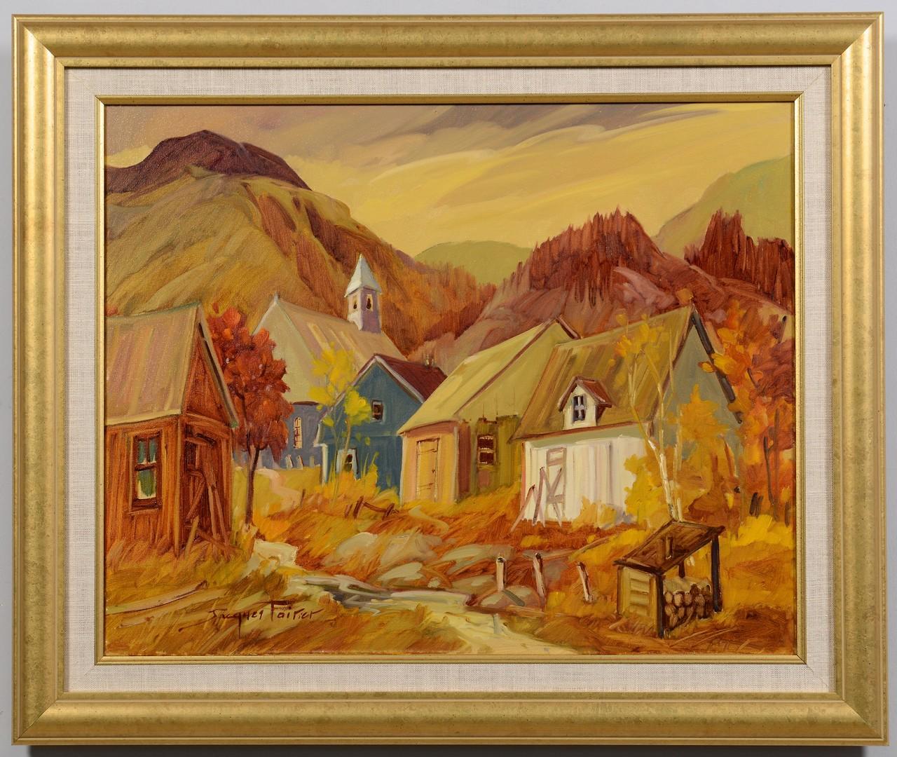 Lot 234: Jacques Poirier Fall Landscape painting