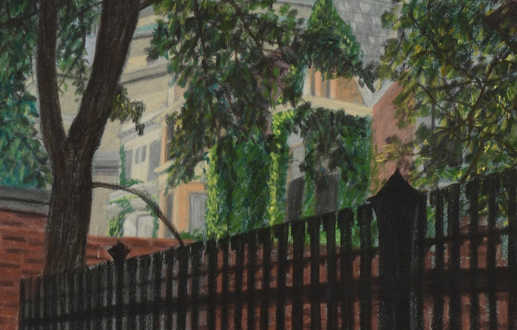 Lot 244: Keith Morrison pastel painting, Hyde Park