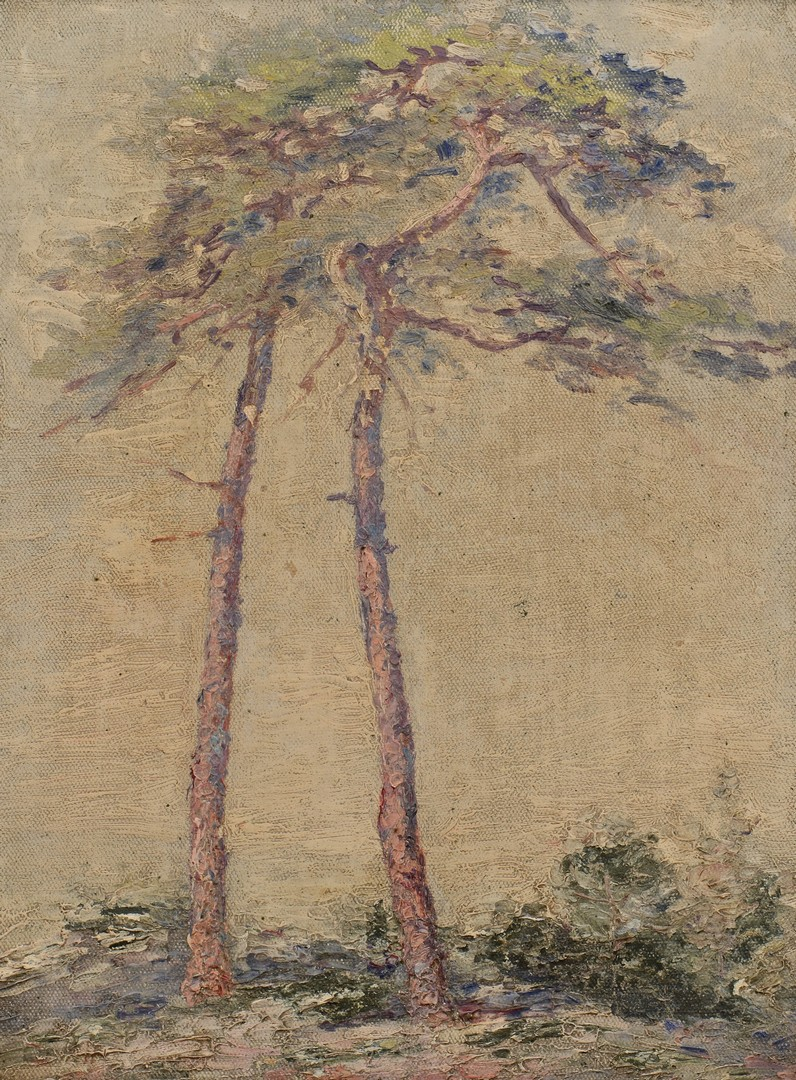 Lot 248: Carrie Hill Impressionist Landscape Oil