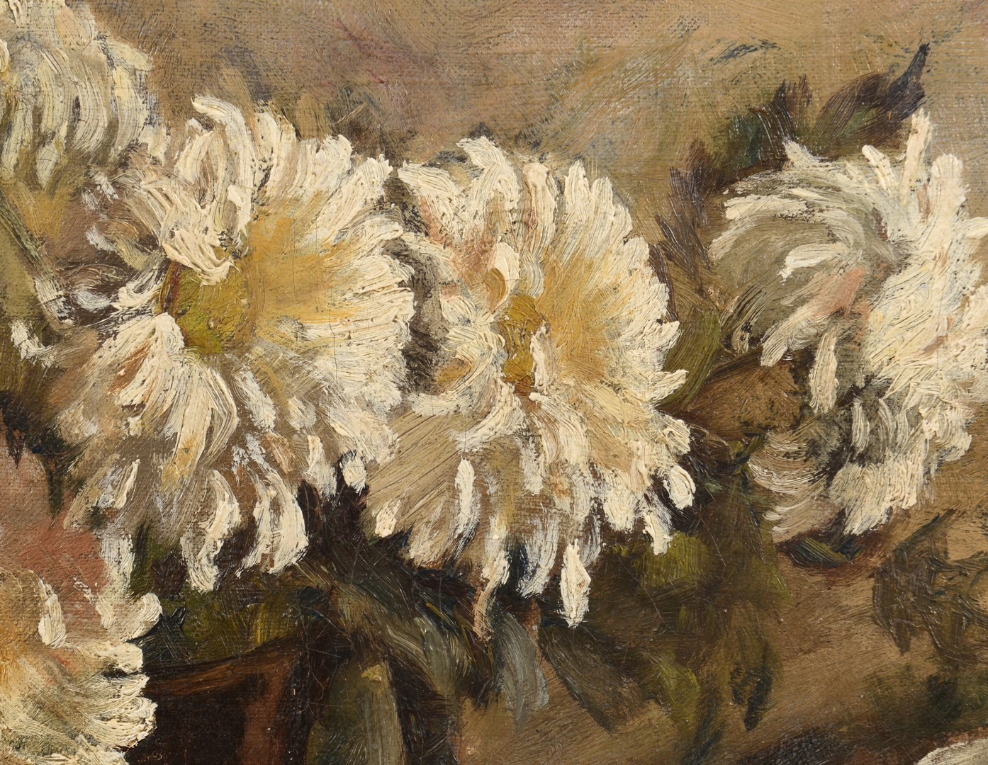 Lot 249: Carrie Hill Still Life of Zinnias Oil