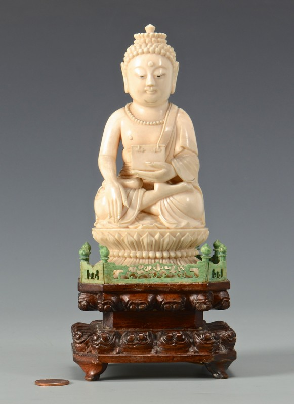 Ivory case antiques part 5 lot 24 antique ivory buddha mozeypictures Images
