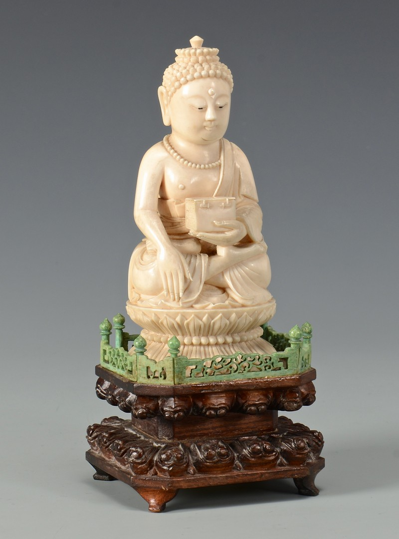 Lot 24: Antique Ivory Buddha