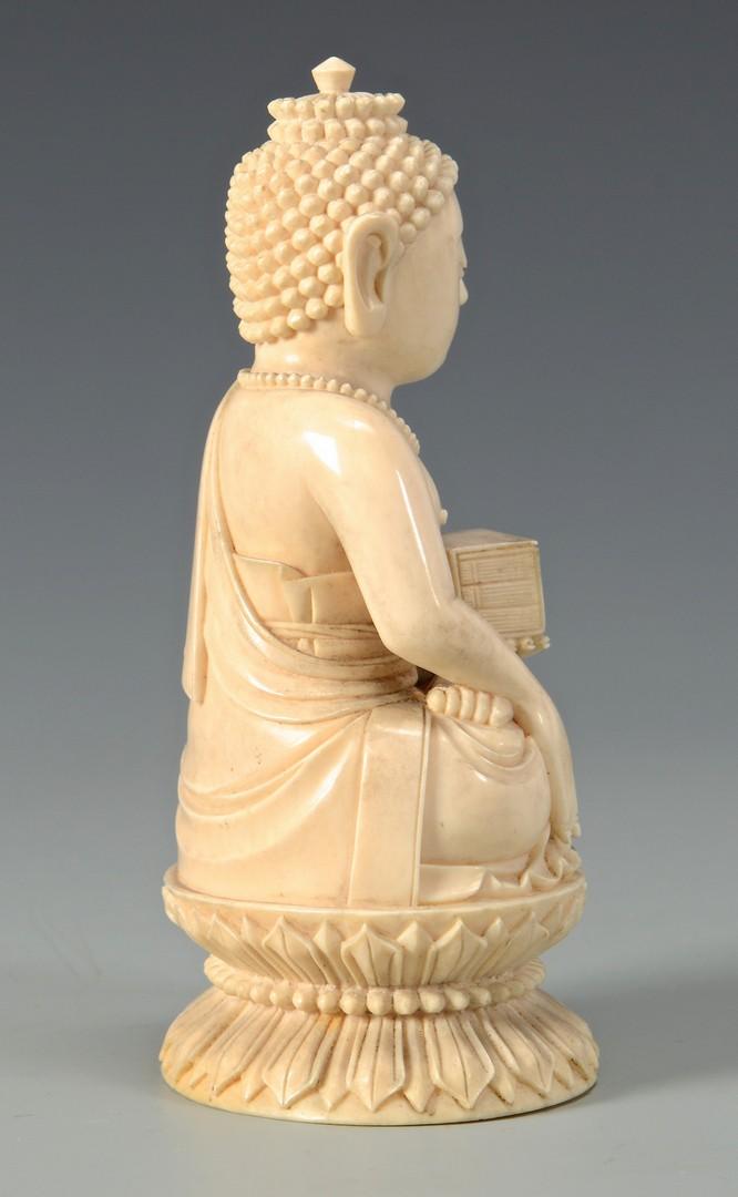 Lot 24: Antique Ivory Buddha