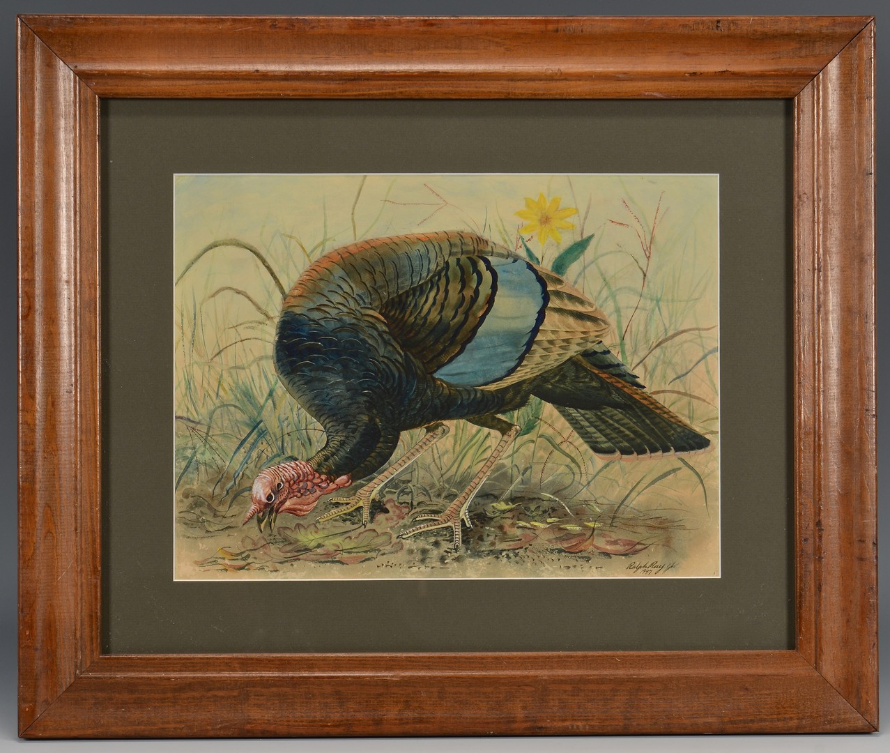 Lot 254: Ralph Ray Watercolor of Turkey